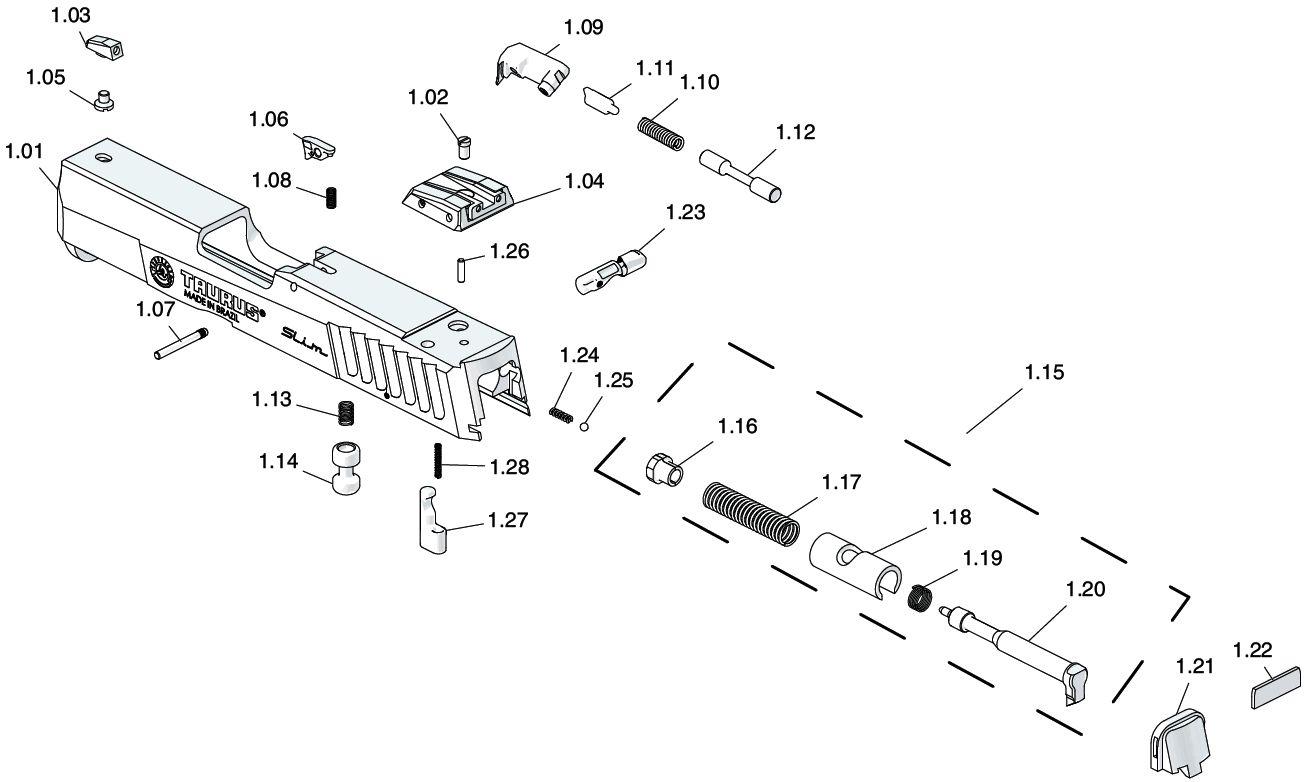 Taurus 1911 Schematics Auto Electrical Wiring Diagram Schematic Revolver Parts