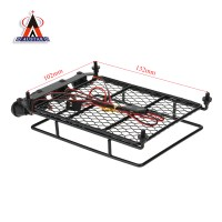 Austar Roof Luggage Rack with LED Light Bar for 1/10 1/8 ...