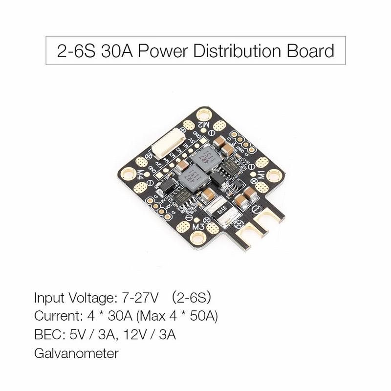 2-6S 30A 5V 12V Dual BEC 3A PDB Power Distribution Board XT60 for