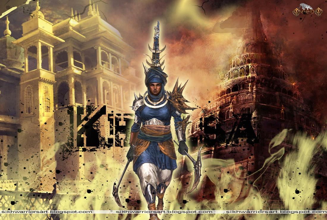 3d Khanda Wallpaper Sikh Warriors Art Gurbani Bodh