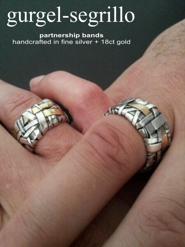 partnership bands handcrafted in silver and gold by gurgel-segrillo