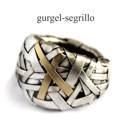 contemporary jewellery RING handcrafted in silver and gold