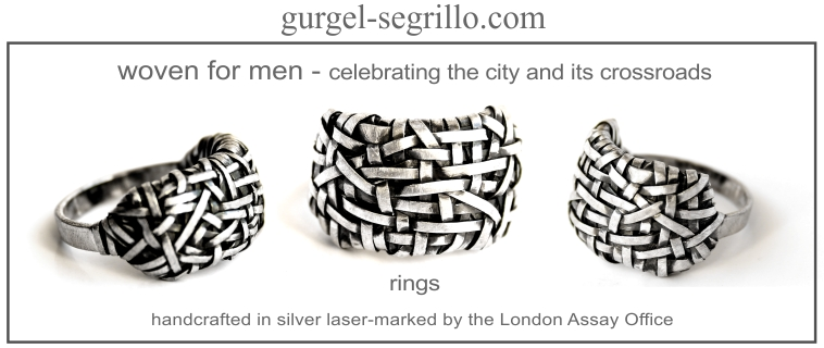 woven for men - rings handcrafted in fine silver