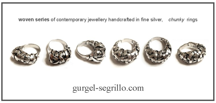 woven series contemporary jewellery handcrafted in fine silver
