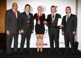8. Türkiye Sommelier Yarışması Finalistleri Mustafa Zorluoğlu, Alp Açık, Elena Shiskina, ve jüri