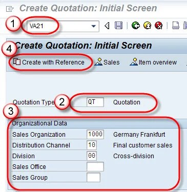 How to Create Quotation SAP VA21