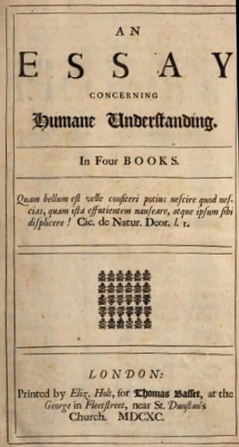 An Essay Concerning Humane Understanding, Volume I, by John Locke