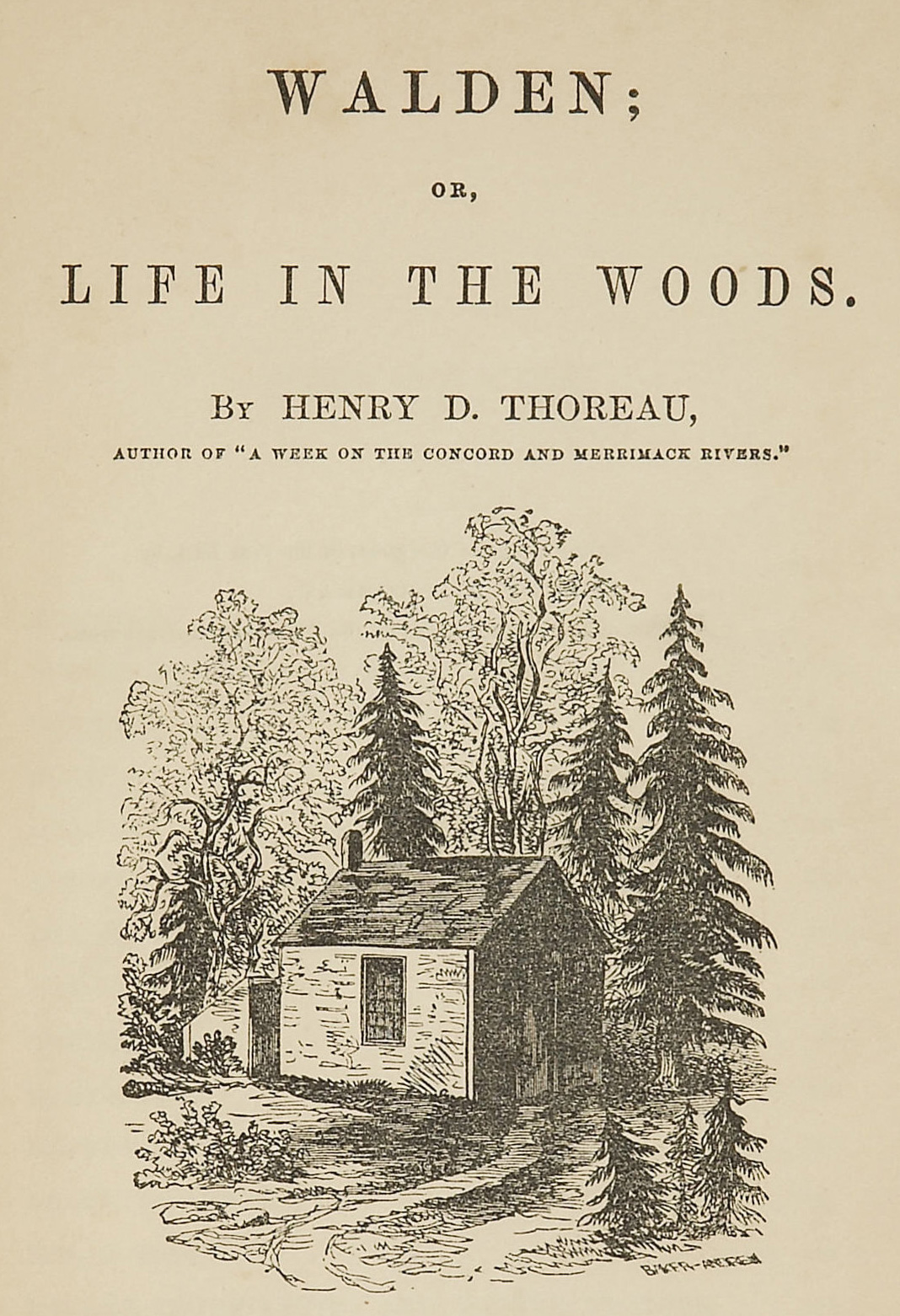 Walden, by Henry David Thoreau