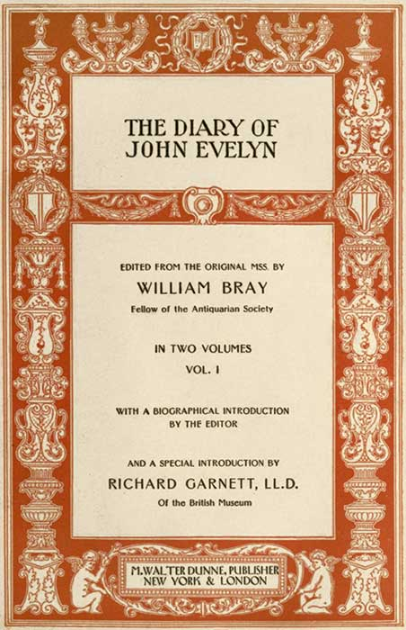 The Project Gutenberg eBook of The Diary of John Evelyn (Vol 1 of 2