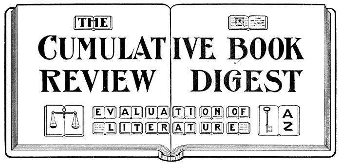 The Project Gutenberg eBook of Cumulative Book Review Digest, V 1, 1905