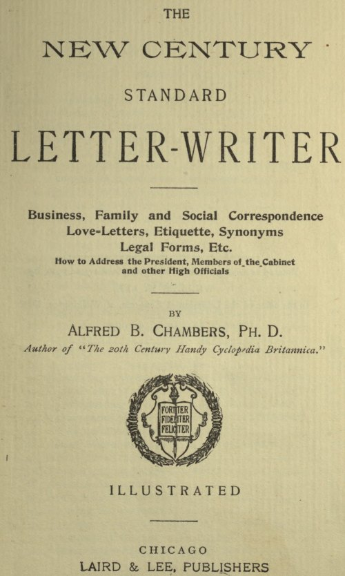 The Project Gutenberg eBook of The New Century Standard Letter