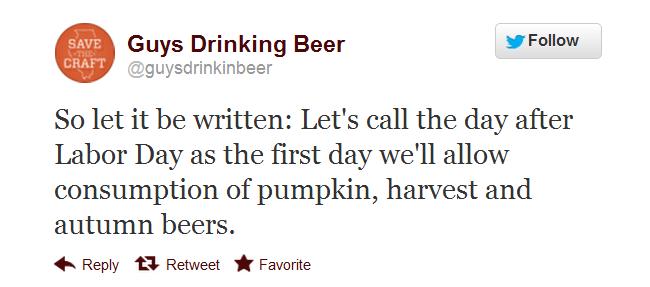 post laborday drinking tweet