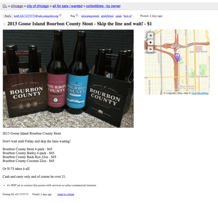 2013 Goose Island Bourbon County Stout - Skip the line and wait!