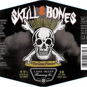 Lake Bluff Brewing Skull & Bones Double Pale Ale Label