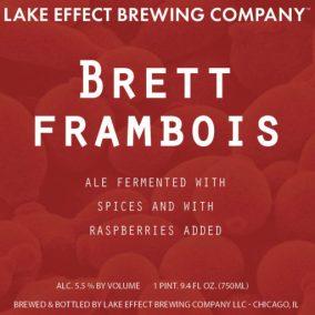 Lake Effect Brett Framboise Label