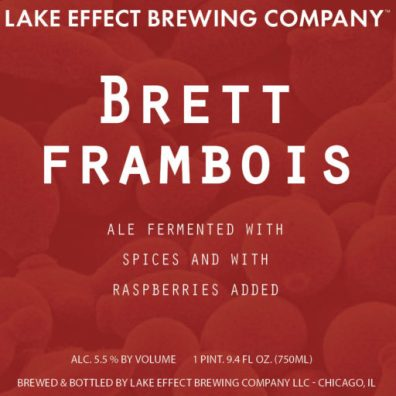 Lake Effect Brett Framboise Label