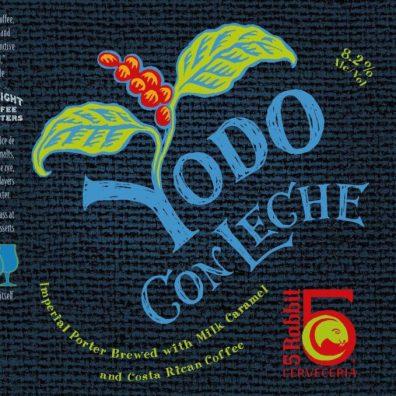 5 Rabbit Yodo Con Leche Imperial Porter Label