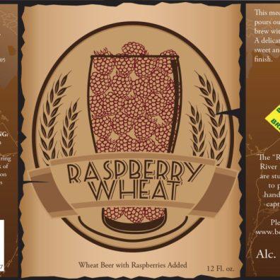 Bent River Raspberry Wheat Beer Label