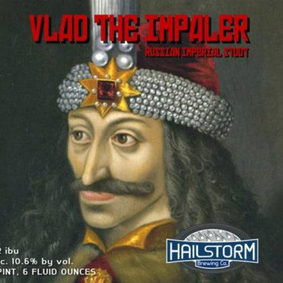 Hailstorm Vlad the Impaler Russian Imperial Stout Label