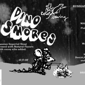 Off Color DinoS'mores Russian Imperial Stout Label