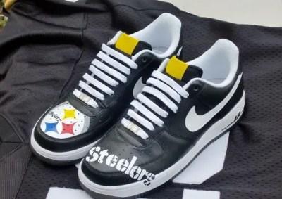 diy custom nfl sneakers steelers