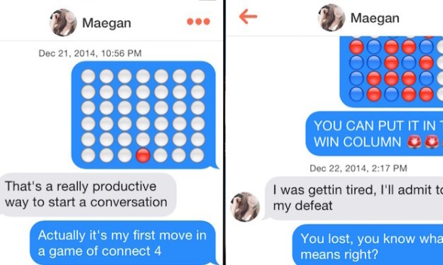 Guy picks up girls on Tinder by beating them in Connect Four