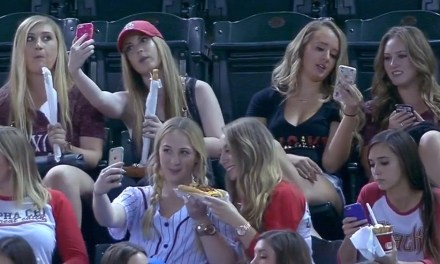 UPDATED: Sorority taking selfies at a baseball game are mocked by broadcasters