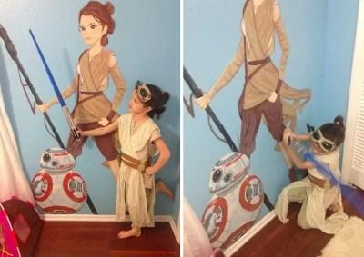 mom paints rey daughter's room (2)