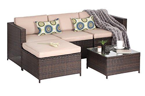 Oakville Furniture Luxury Modern 5 Piece Outdoor Patio
