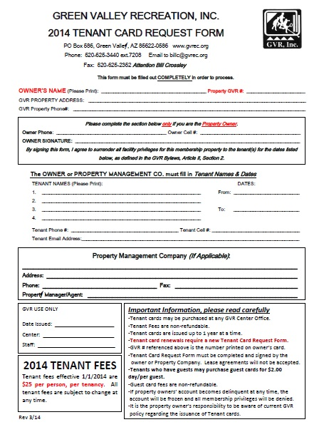 Information Request Form To Request Information Please Mail The - Tenant Information Form