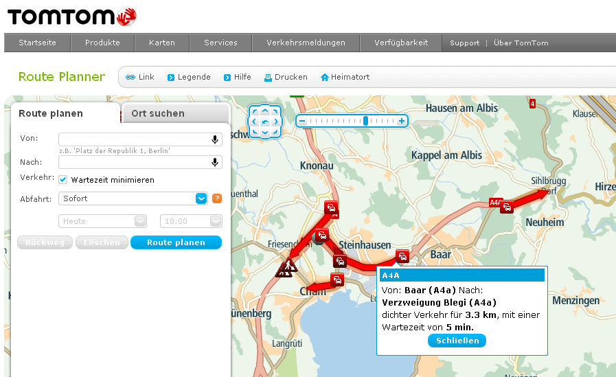 Tomtom Routenplaner