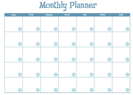 Are You Keeping An Active Monthly Calendar? - monthly planning calendar