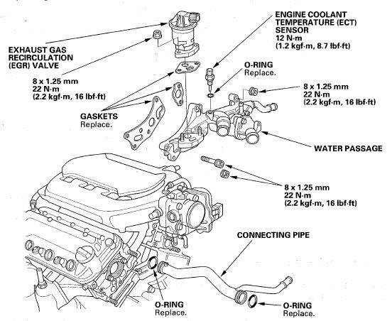 acura engine cooling diagram