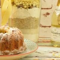 Backmischung im Glas selber machen - Prosecco Mandarinen Kuchen