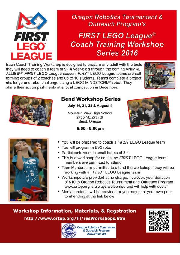 FIRST LEGO League Coach Training Workshop