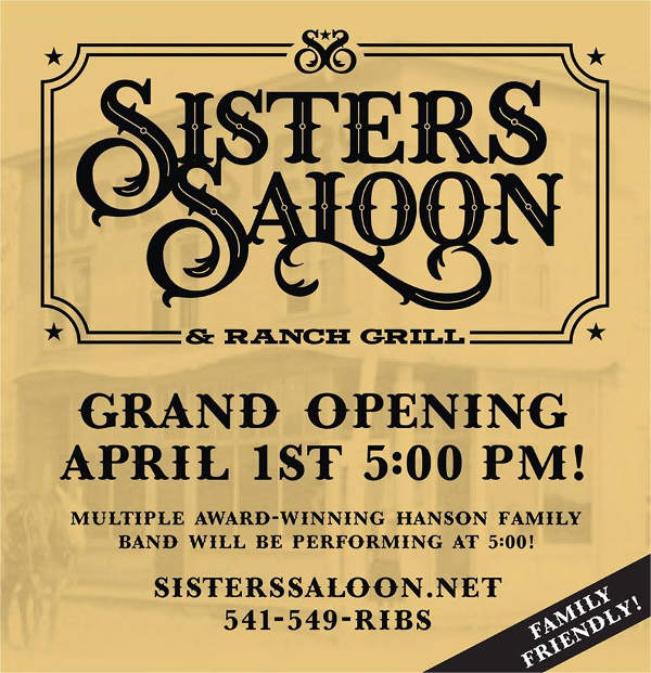 Sisters Saloon grand opening