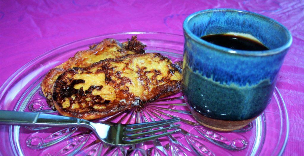 Cuban Coffee with Sweet Toast