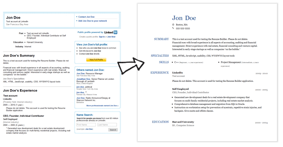 how to create a resume from a linkedin profile resume builder create a resume from your