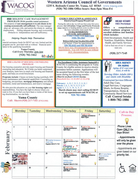 Events - Flyer Calendar - HACY - Housing Authority of the City of Yuma