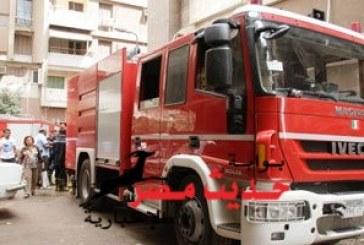 حريق هائل بأسطح 5 منازل فى قنا.. والحماية المدنية تحاول إخماد النيران