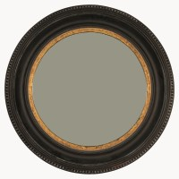 Wilton Black and Gold Rusty Round Mirror - Accessories ...