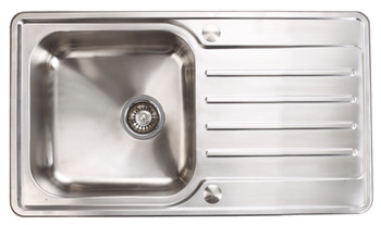Sink Stainless Steel Single Bowl And Drainer 860 Mm