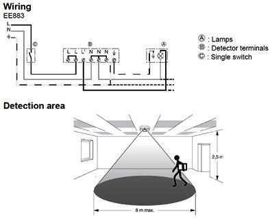 HF motion detector \u2013 EE883 Hager
