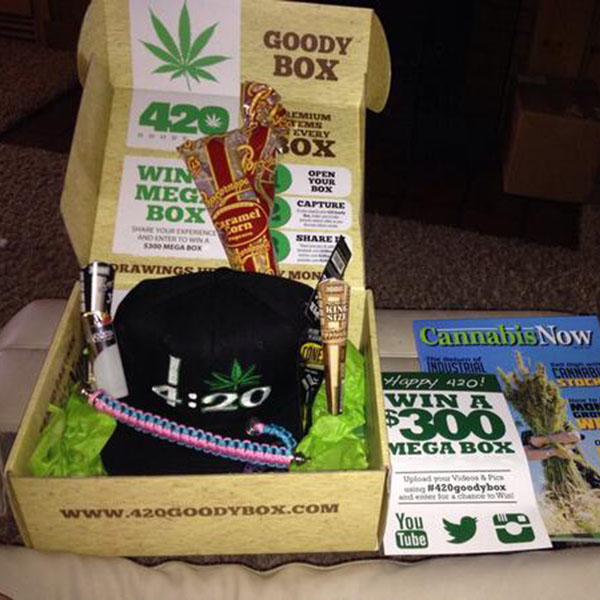April's 420 Goody Box Contents (Click for Source)