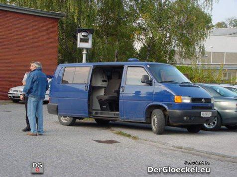 Das Sonderfahrzeug der Bundesgendarmerie zum Aufspüren von Schlepperbanden