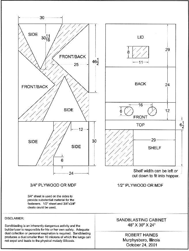 Kdpn Great Homemade Sandblasting Cabinet Plans