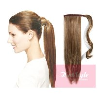 "Clip in ponytail wrap / braid hair extension 24"" straight ..."