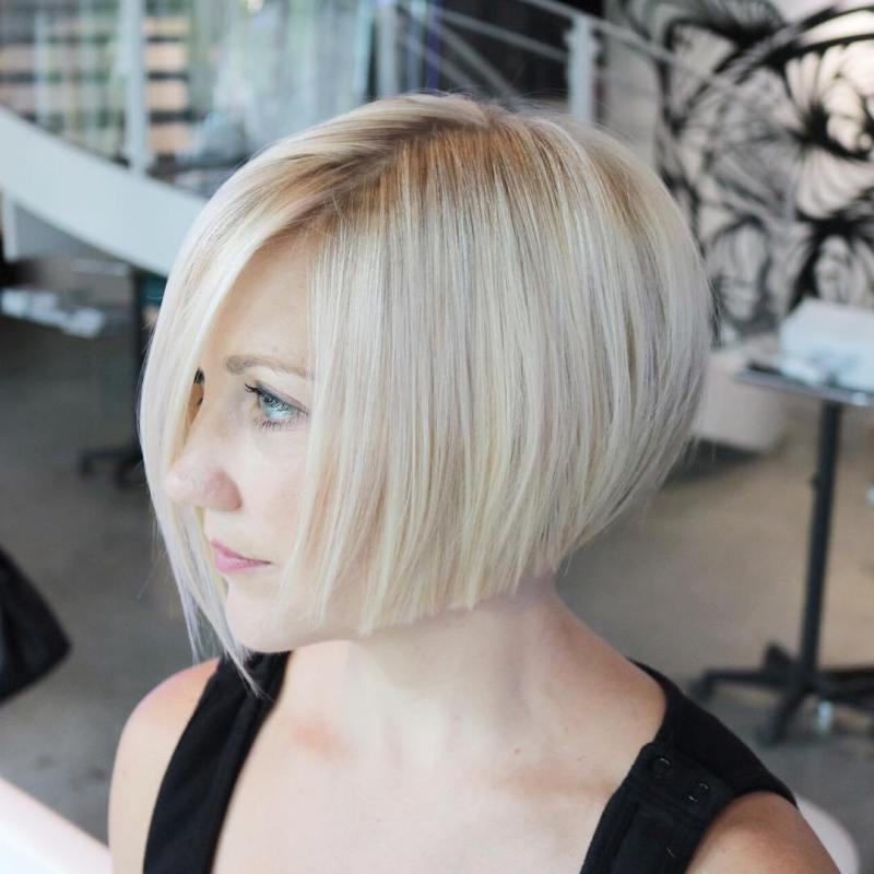 Pleasing Edgy Inverted Bob Short Hairstyle Inverted Bob Short ...