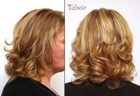 blonde foil highlights photo