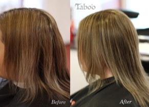 Colour correction before and after photo